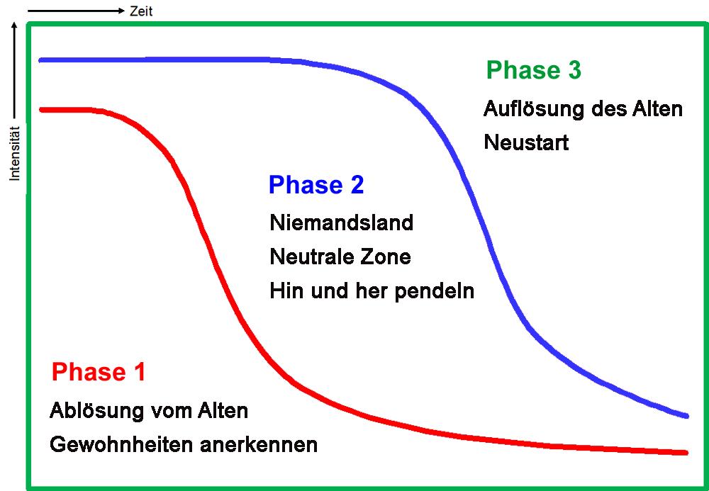 Die 3 Phasen im Transition-Prozess